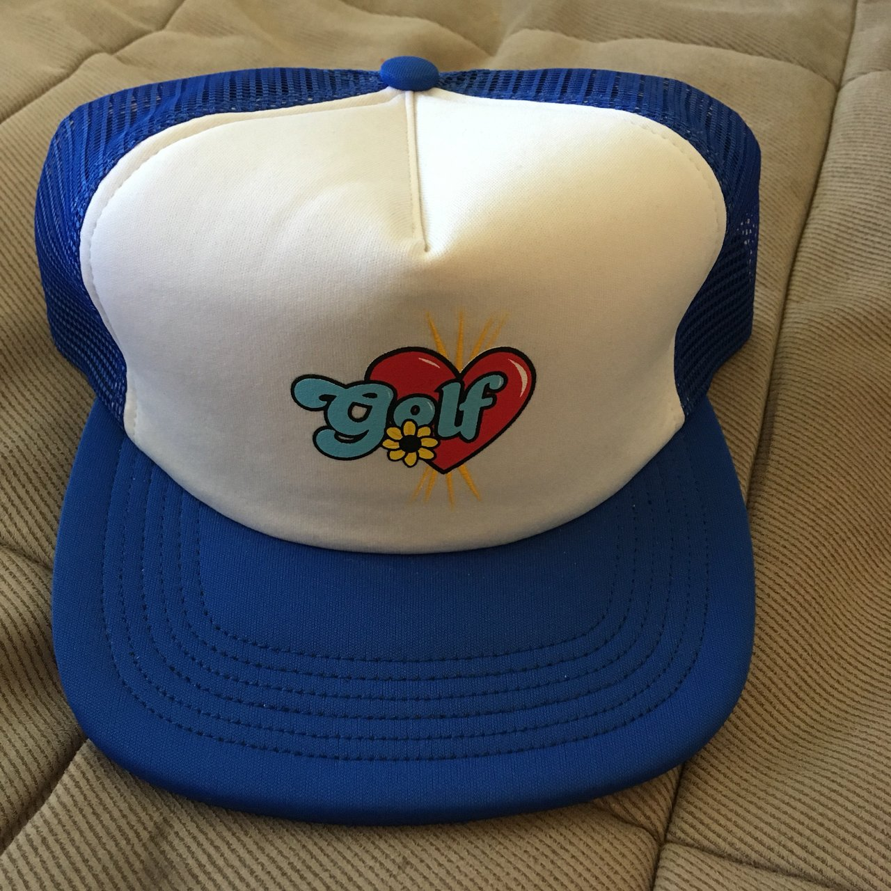 "1e5bda233cd8 Golf Wang ""Romeo"" Trucker Blue colorway Never worn  supreme - Depop"
