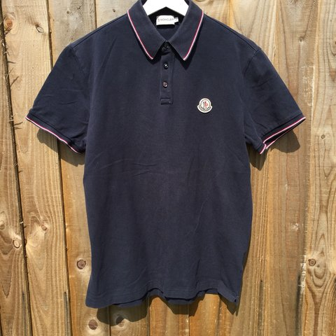 5c8a7a4a @hzooriginals. 11 months ago. Sheffield, United Kingdom. Moncler Polo Shirt.  Size Medium. Tagged a large but fits ...