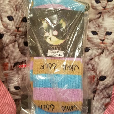902d7325bb7e Bimmer socks pink blue gold golf wang socks ofwgkta odd the - Depop