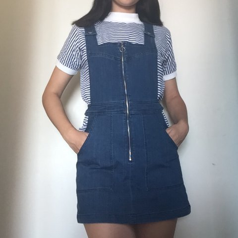1e9eaf2aa5 ON HOLD- Jean overall dress from Pacsun. Labeled S but fit - Depop