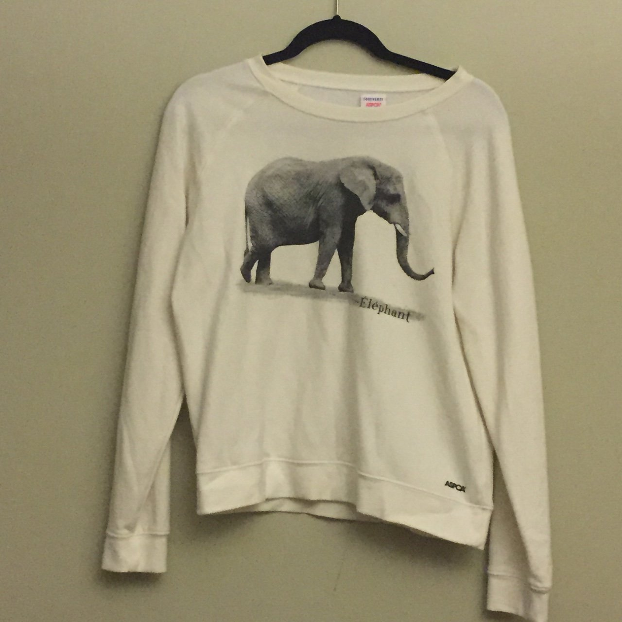 4a1fac616b6e25 Adorable Cropped Elephant Sweater by Forever21 x ASPCA. Size - Depop