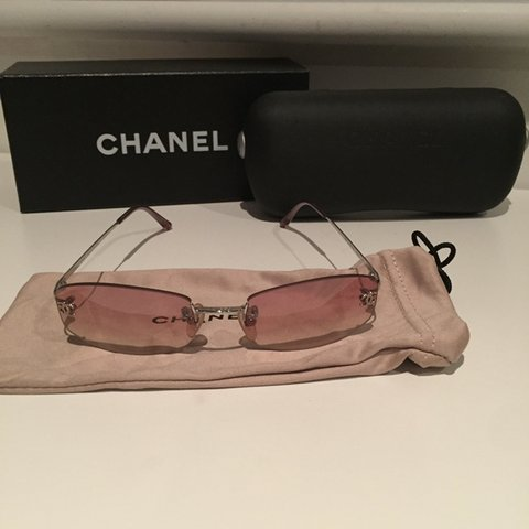 025fadbc3df8e  lillygirl. 8 months ago. Ireland. Authentic Chanel Pink Sunglasses. Worn  once. Comes ...