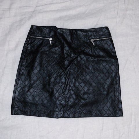 507d0c2881 @rebekkahkaye. 2 months ago. Camarillo, United States. Faux leather quilted  A-line mini skirt.
