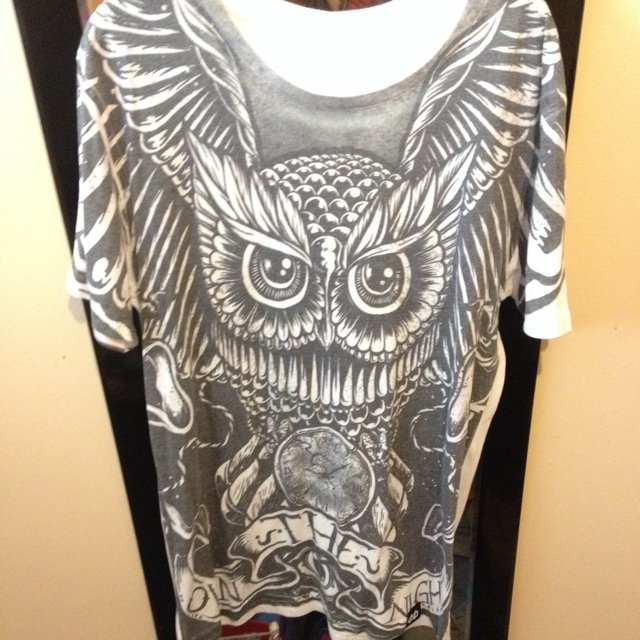 Own the night owl t-shirt. Little miss print but shown in - Depop c2aff49e5