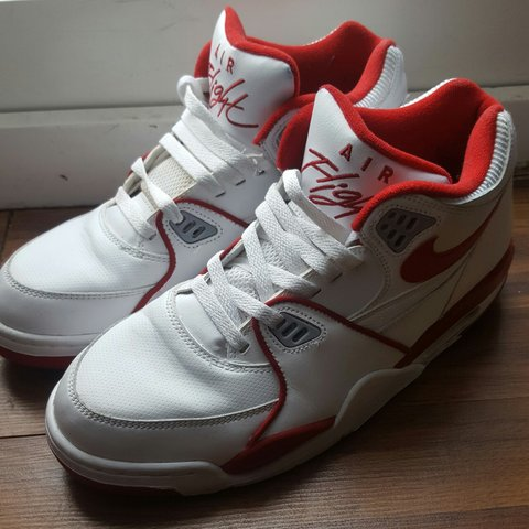9a749149a2b2 AIR FLIGHT 89 WHITE RED WOLF GREY 8 10 CONDITION  NIKE  AIR - Depop