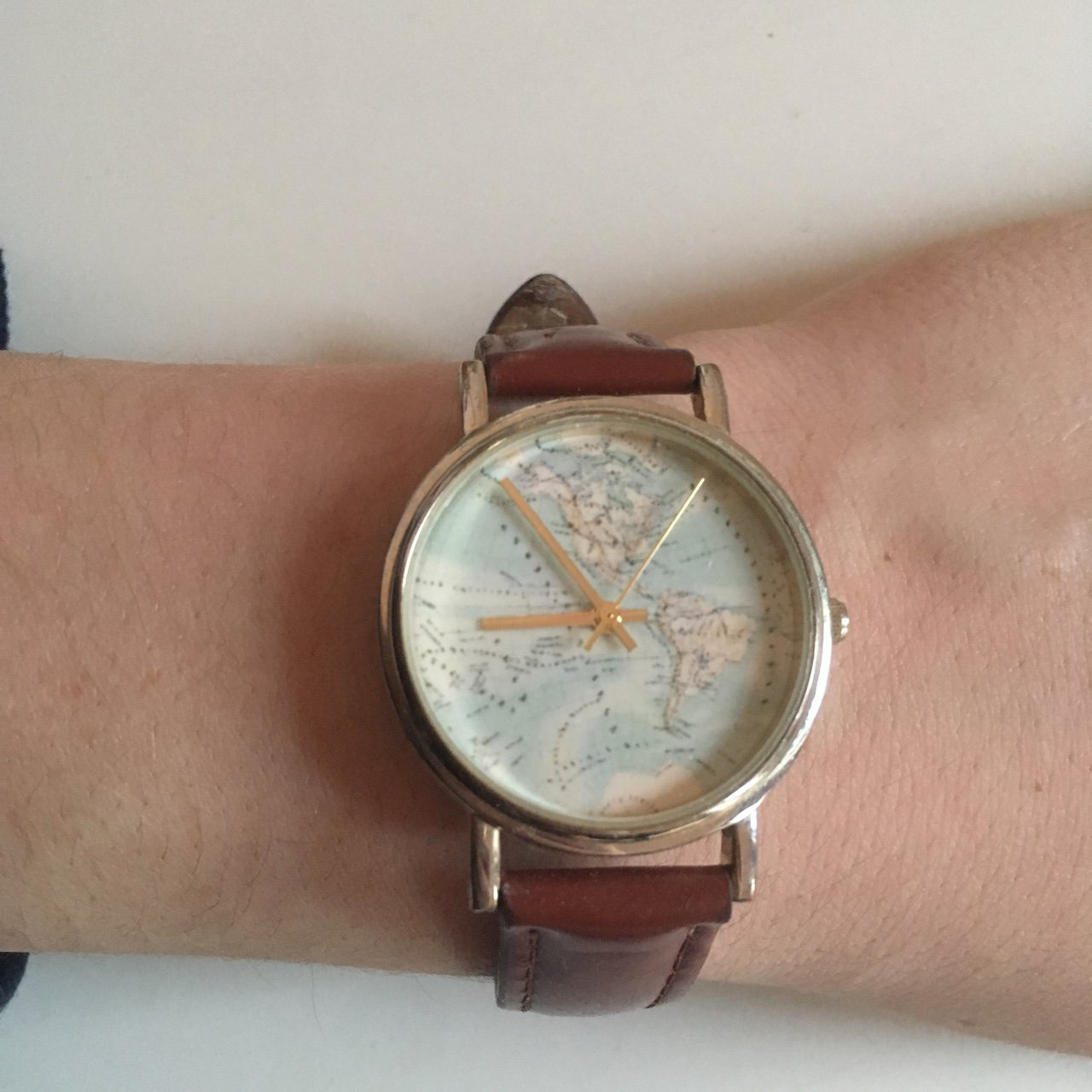 Urban Outfitters World Map Watch.Watch With World Map Face Good Condition I Think Originally Depop