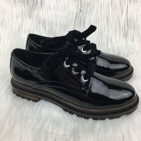 4dd5570a NEW call it spring black patent leather creepers. vegan new, - Depop