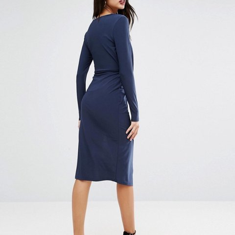 d5c6475a93bc @jillianalice. 8 months ago. Buckley, United States. NWT ASOS navy blue  dress. ...
