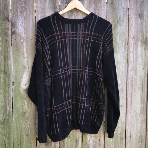 449aedf797e Super soft and warm Dockers brand men s sweater with stripes - Depop