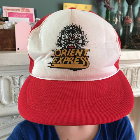 17e170bce90 🎢SUPER RARE🎢 Orient Express trucker cap. Hat is vintage of - Depop
