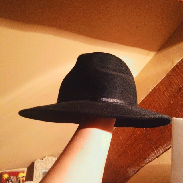 Topshop black hat (wore it to the races only once) - Depop 467d494db76f