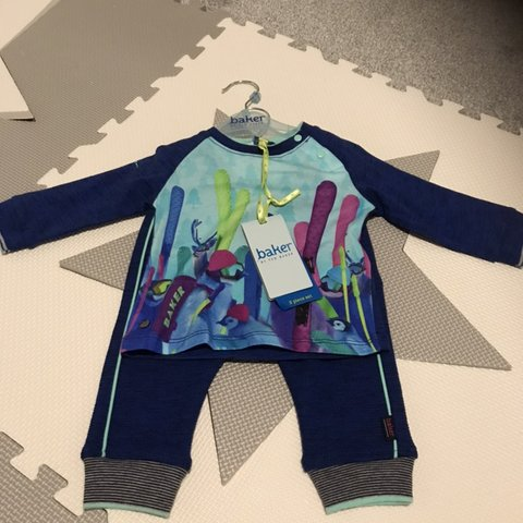 75c8e72c9f69 Baby boys Ted Baker outfit. Still has tags on. Size 3-6 - Depop
