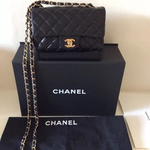3839e100ffa83c @sarahhoward1. 7 months ago. Southport, United Kingdom. CHANEL MADE IN  FRANCE Classic black lambskin rectangular mini flap bag