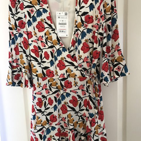 4a846edd615 Zara wrap floral playsuit - brand new with tags never worn. - Depop