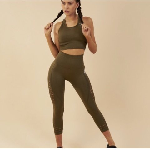 5eec22819ae4b9 @lanilayla. 4 months ago. Colorado Springs, United States. Energy seamless  high waisted cropped leggings by Gymshark ...