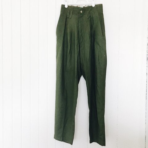 a04c47d8a7cee These vintage green pants are perfect all year around! Cuff - Depop