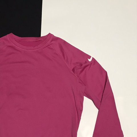 94f42a08 @kristalnk. last month. Hempstead, United States. Hot pink Nike Pro combat  dry fit fitted long sleeve top