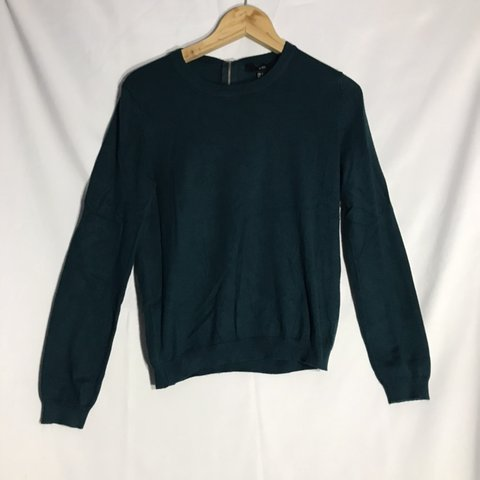 7f68bbee8ef Forever 21 forest green crew neck jumper sweater - women s - Depop