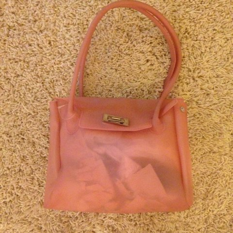 cb23d5a7bb New never carried light pink , semi see through rubber purse - Depop