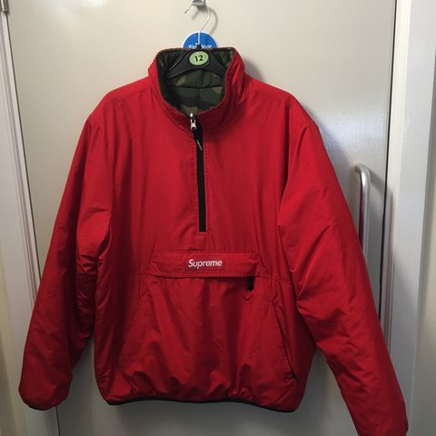 4be19c99be6b Supreme FW 12 13 reversible pullover anorak- Red pullover No - Depop