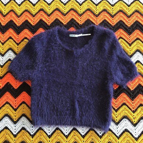 d36f37af8 Kimchi Blue fuzzy crop top from Urban outfitters. Purple. - Depop