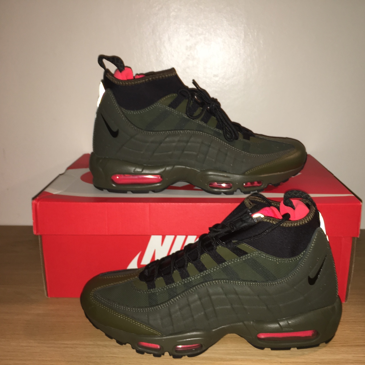 separation shoes f6731 41146 Nike Air max 95 sneakerboot olive green dark Loden... - Depop