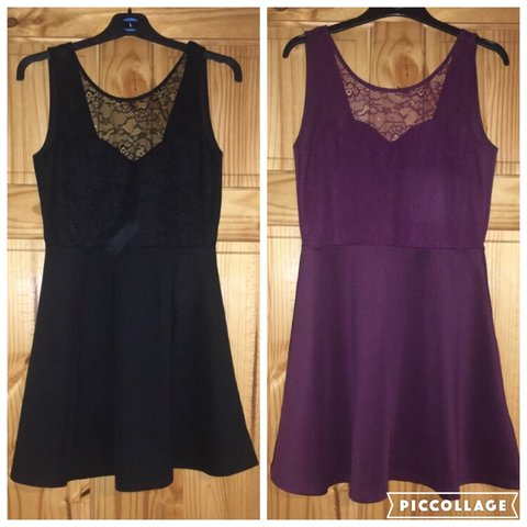 138a85c0c2941 Two H&M , open/low back dresses black and purple (same dress - Depop