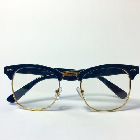 eb75f6b537 Retro Gold Rimmed Clear Lens Browline Glasses   Style    New - Depop