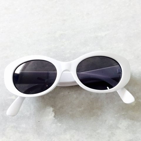 5f95985a84 White Frame Dark Tinted Sunnies ⚫ 😍😎😱😵   Timeless • • - Depop