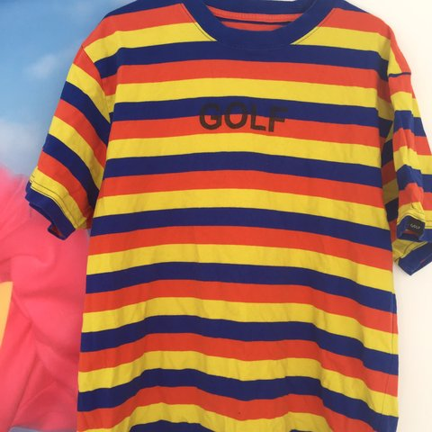 25fd9c2d340d Golf Wang Tyler the creator Striped Tee! Size large! Worn a - Depop