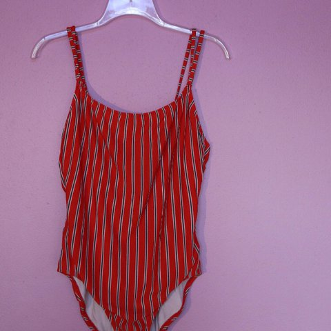 e711ff93551 @evarussa. last year. United States. vintage anne cole one piece swim suit/bathing  suit. red/white striped. ...