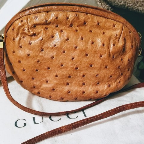 53648596991 VINTAGE GUCCI!!! Late 1970s early 1980s GUCCI Natural SKIN - Depop