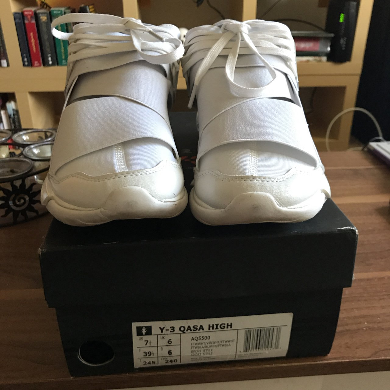 Y-3 Qasa High. Size  US women s 7.5 or UK 6. Great condition - Depop 4b88d33778