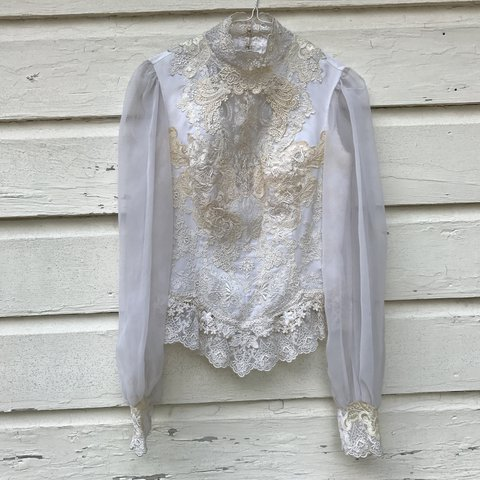 ffb5396c6bca2f @museemod. 2 years ago. Dallas, TX, USA. vintage white lace blouse ...