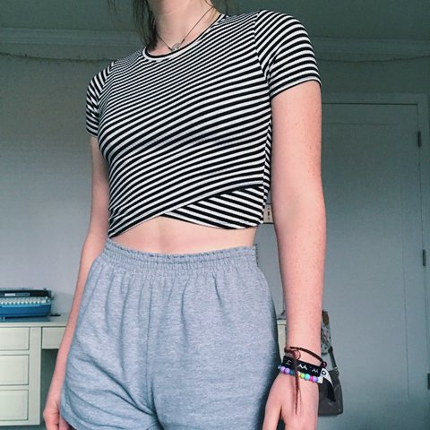 f5311493bcfc3 Flattering striped crop top from Urban Outfitters. The criss - Depop
