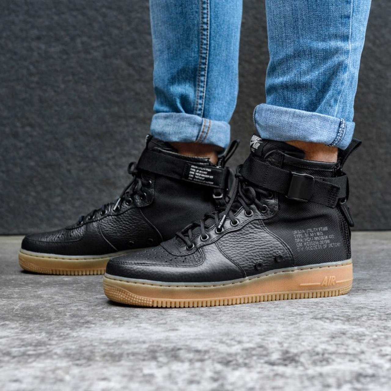 Nike SF Air Force 1 (BLACK - SIZE 7)  NEW WITH BOX  - Depop 79ac67574adf