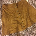 f7e1c8ab53 Brown suede skater skirt from H&M, worn once in perfect Size - Depop