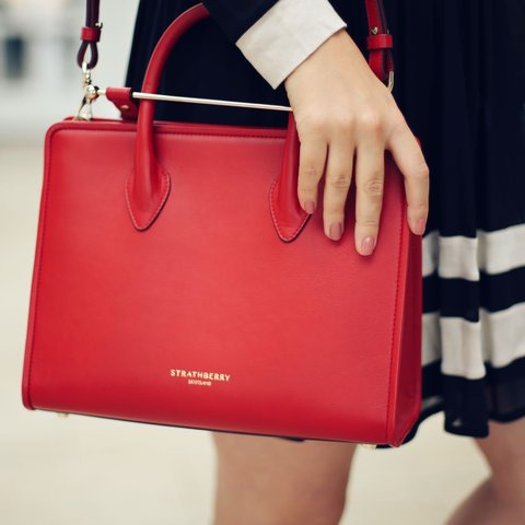 942c0c66593c Strathberry  Midi Tote  in Ruby - £395 new