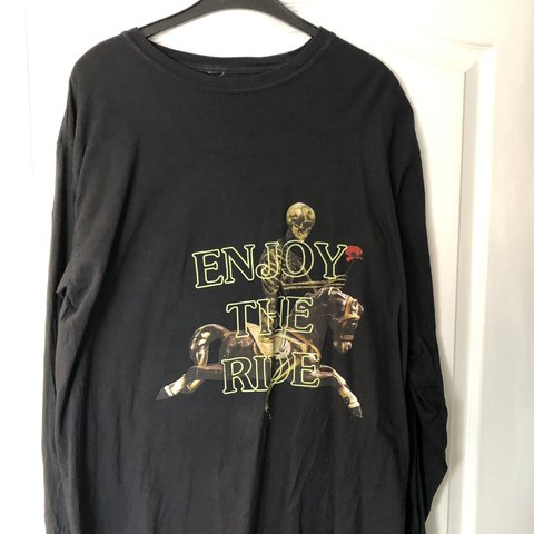 a35946fdefe5 Travis Scott 'ENJOY THE RIDE' glow in the dark l/s t shirt, - Depop