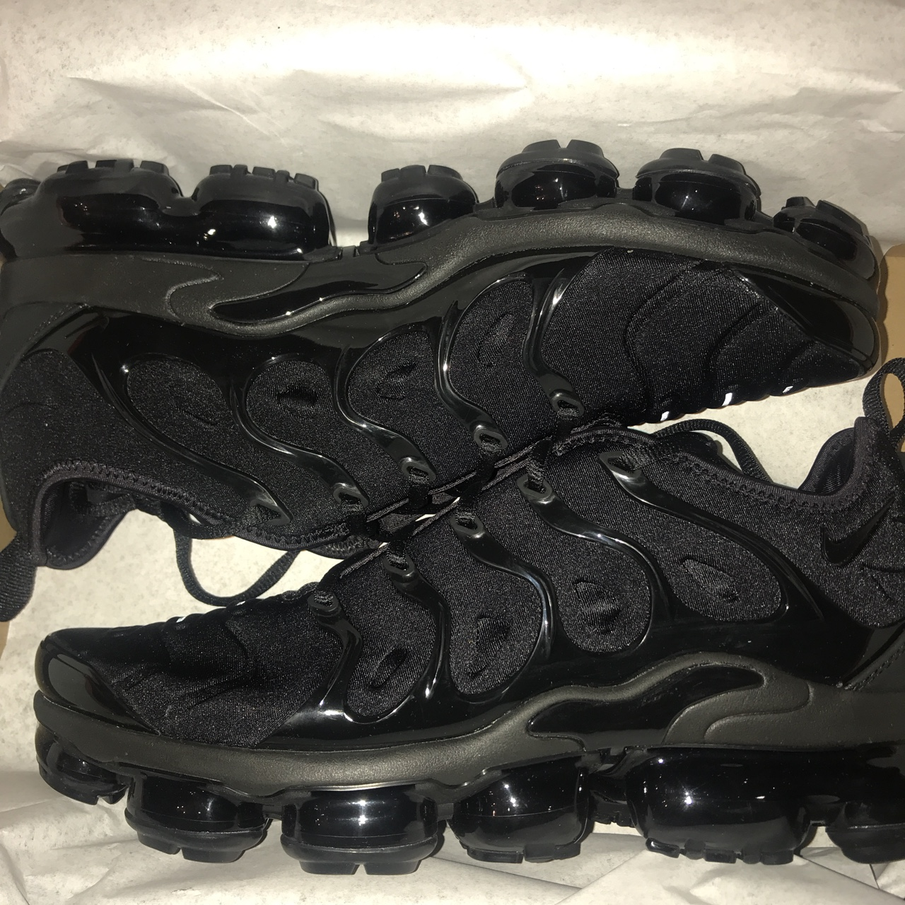 newest 8a61f aaeb0 Nike Air VaporMax TN Size 10 Triple Black Brand New... - Depop