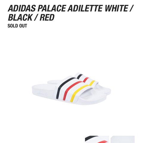 6403321da PALACE X ADIDAS Germany colour way 🇩🇪🇩🇪slides deadstock - Depop
