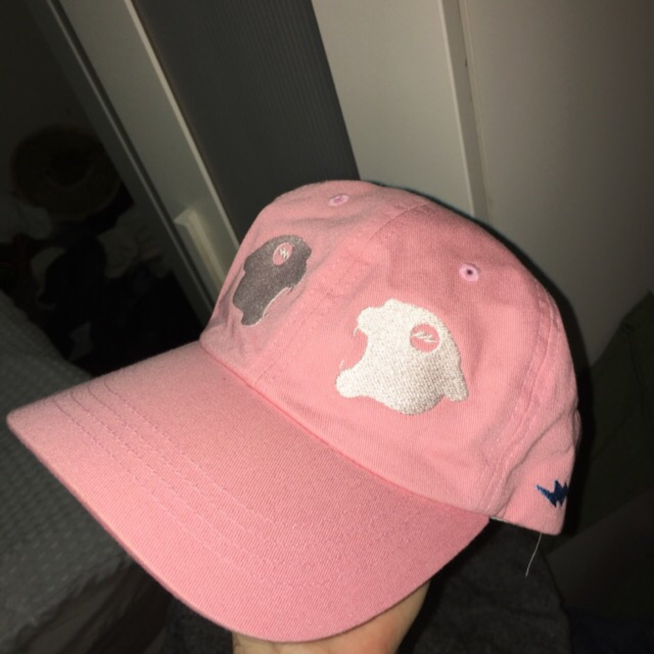 8e18c0dc0a8 Rare Panther Pink Two facing Panther cap Tyler the creator I - Depop
