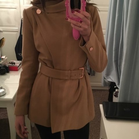 82fcd9452 REDUCED!!!! Selling my size 8 ted baker coat! Love this coat - Depop