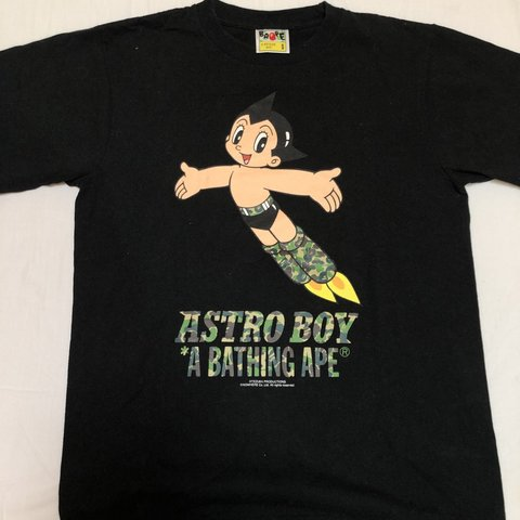 427cb0973 Bape Astro boy t-shirt in black size small. Worn once. - Depop