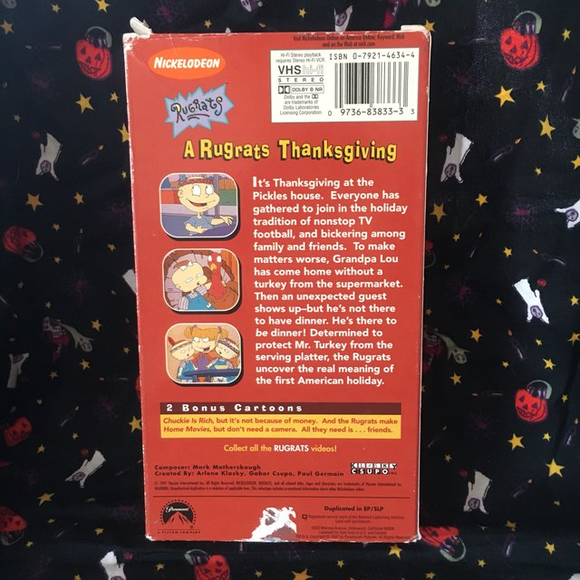 ▪️Rugrats: A Rugrats Thanksgiving VHS▪️ Tested and