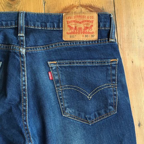 443d1f31 Levi's 511 mid wash, legs have been altered for a slightly a - Depop