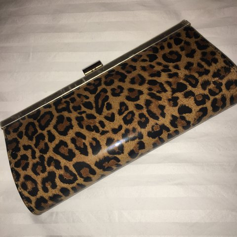 6b90e3bf4f9 Small clutch leopard print from Aldo. A few marks on the but - Depop