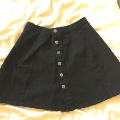 b2e11a7f48 John galt / brandy melville black denim circle skirt. Fits a - Depop