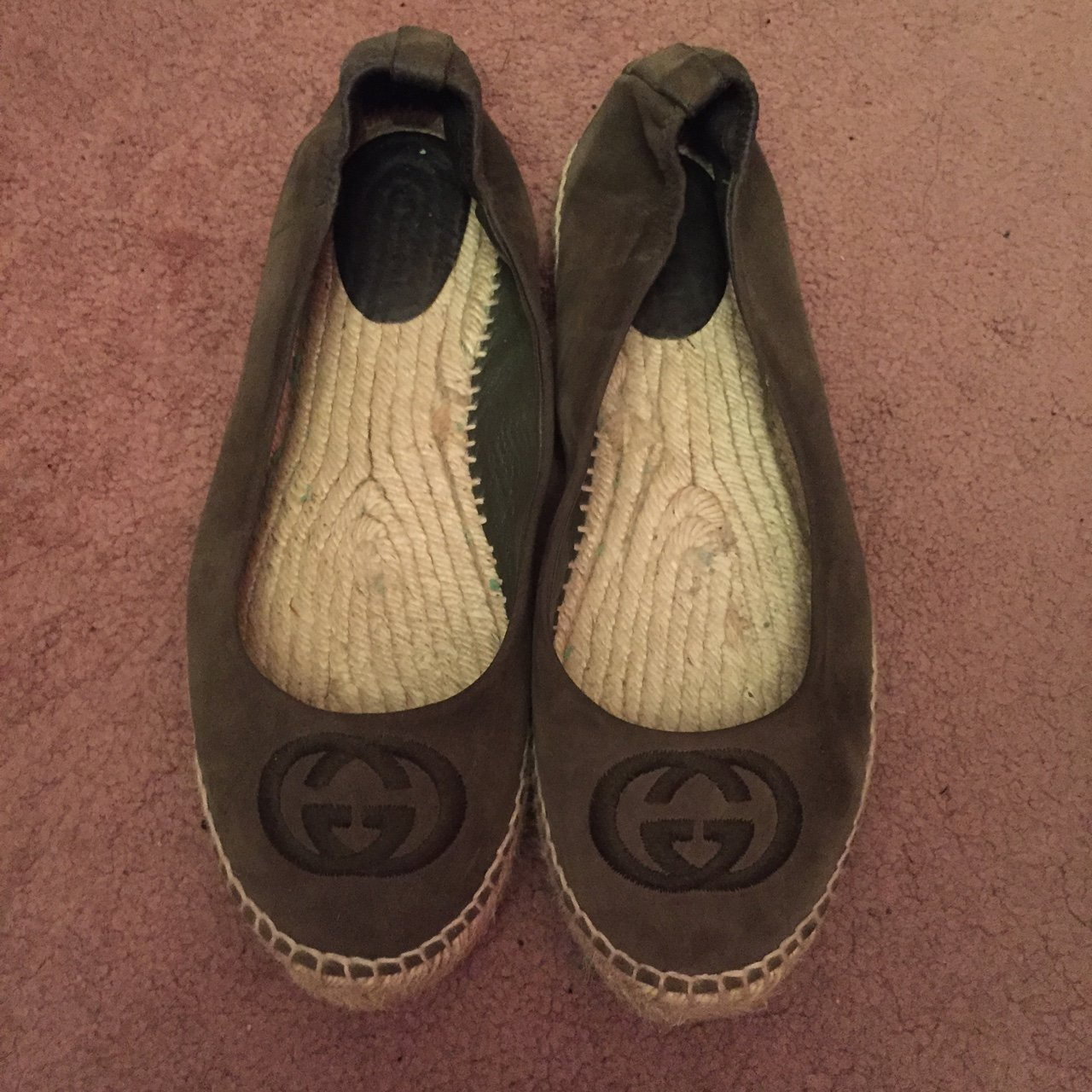 f7df9b4b20a Authentic khaki Gucci espadrilles