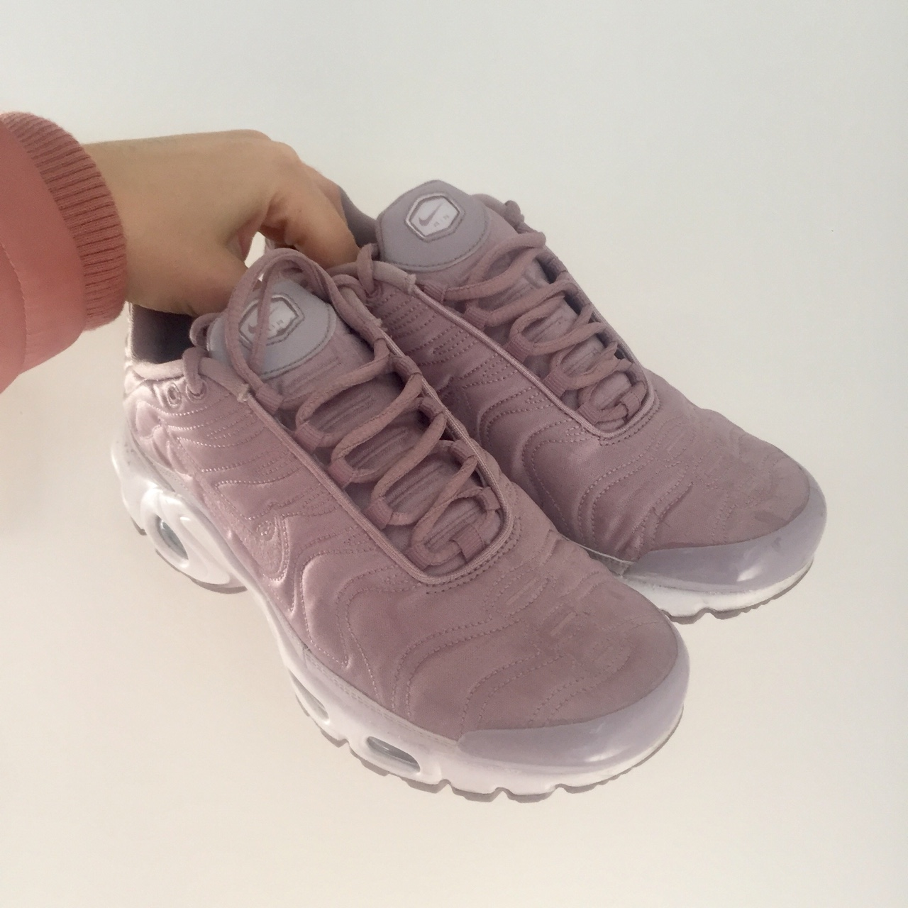 hot sale online 5d529 ad140 Pink purple silk TN TNs Nike tuned footlocker... - Depop